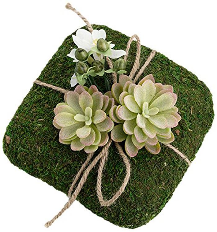 Creative Moss Pillow Wedding Rings Holder