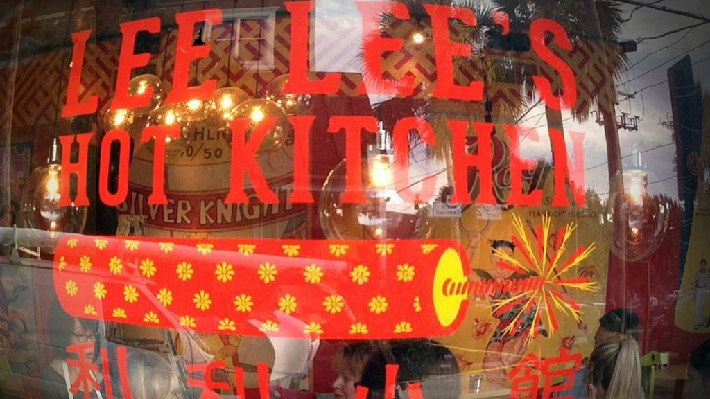 Because we know that firecrackers are one of the main attraction in the New Year's Eve, the Lee Lee's Hot Kitchen window display was decorated with a firecracker yellow and red tube.