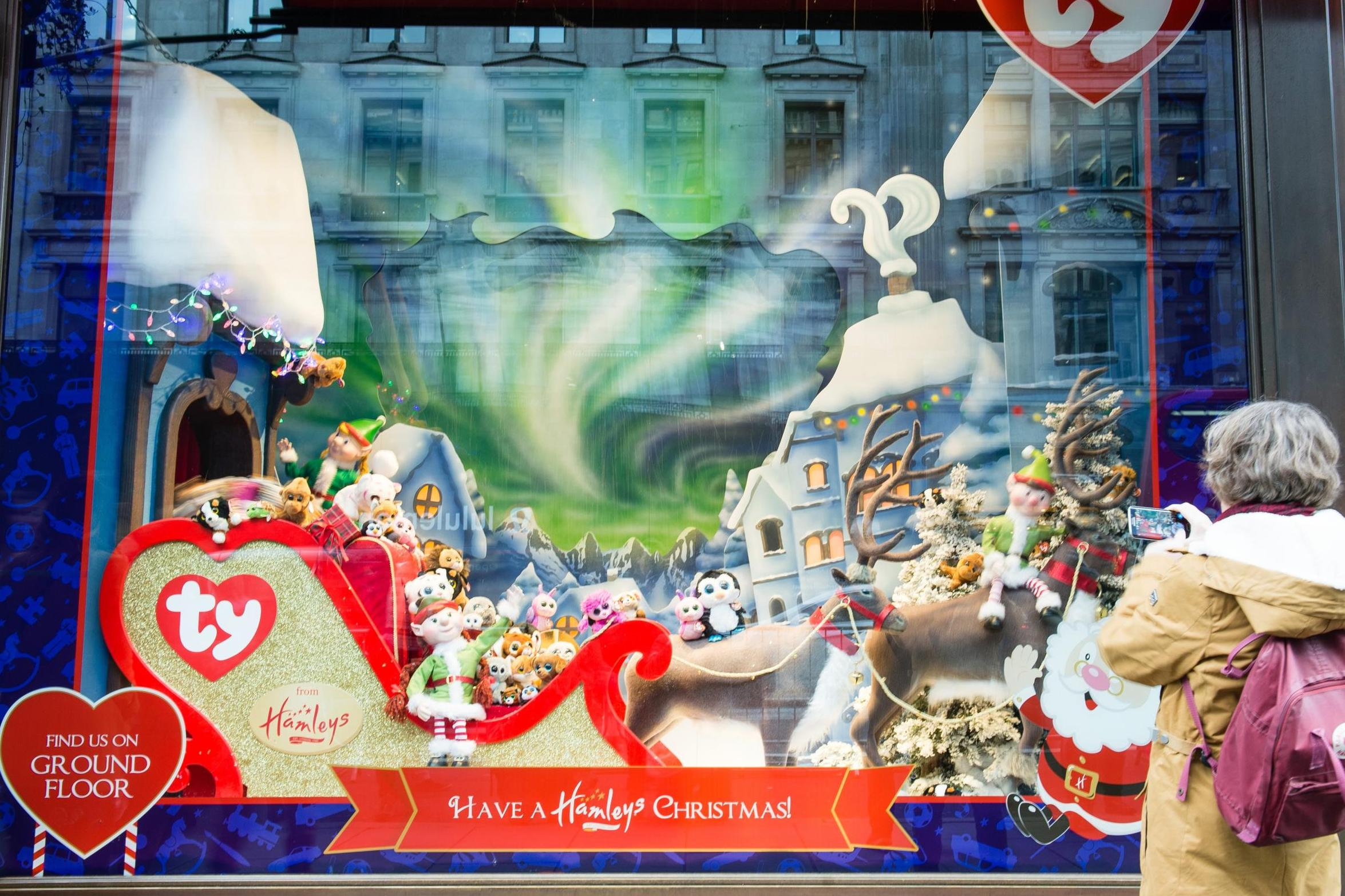 A grand opening and a magic world for toys created in the Christmas window display at Hamleys.