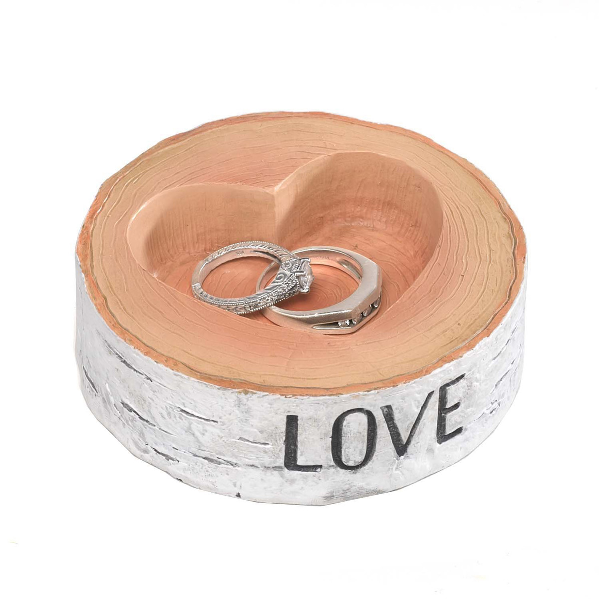Trunk Shaped Wedding Ring Holder with Interior Heart