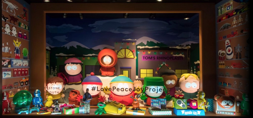The Southpark theme for the window display, let us remember that on New Year's Eve we have to make a wish.