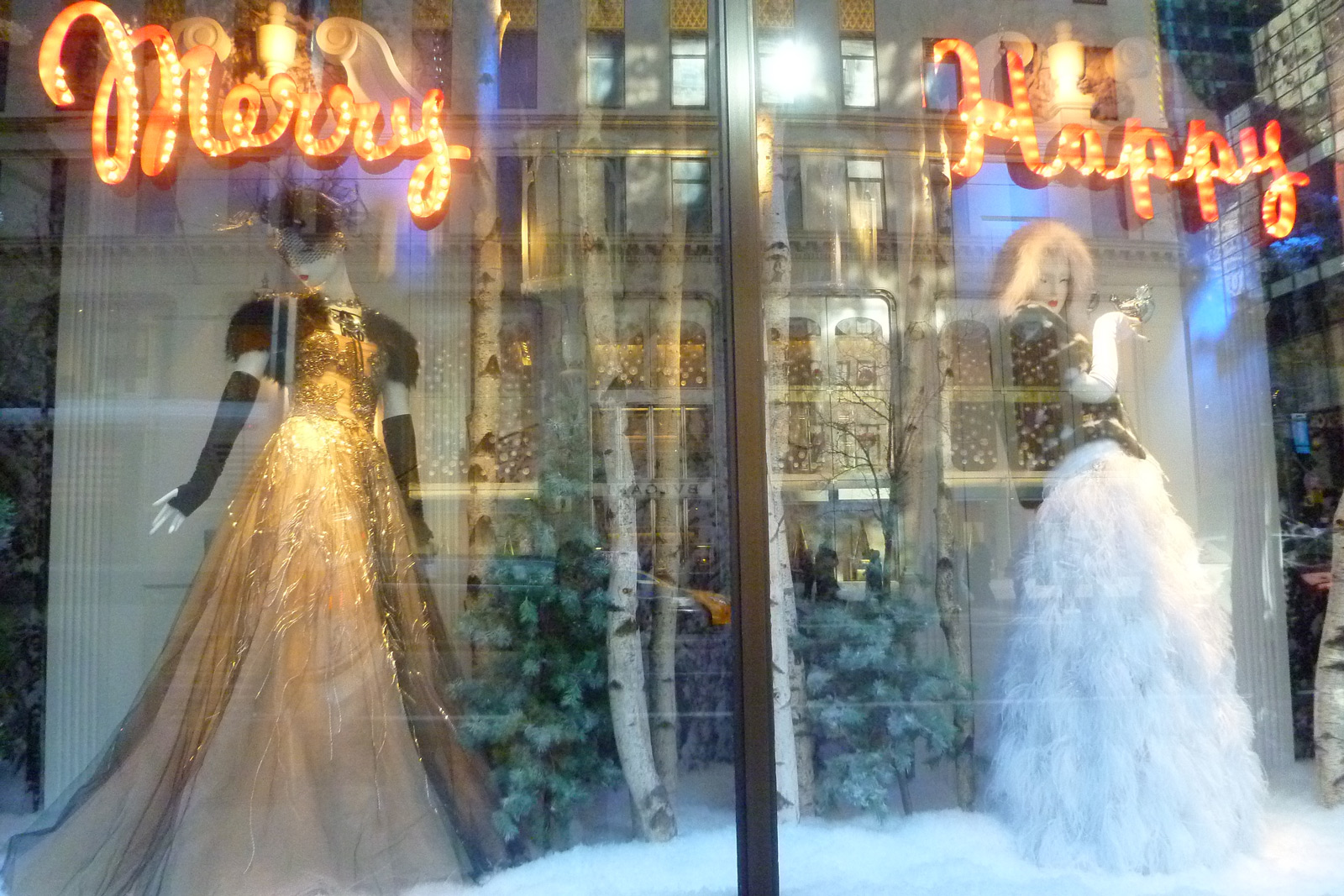 "Now we have two stories in the window display, one is ""Merry"" and could be good for Christmas, and the other one is ""Happy"" that could be good for the New Year's Eve."