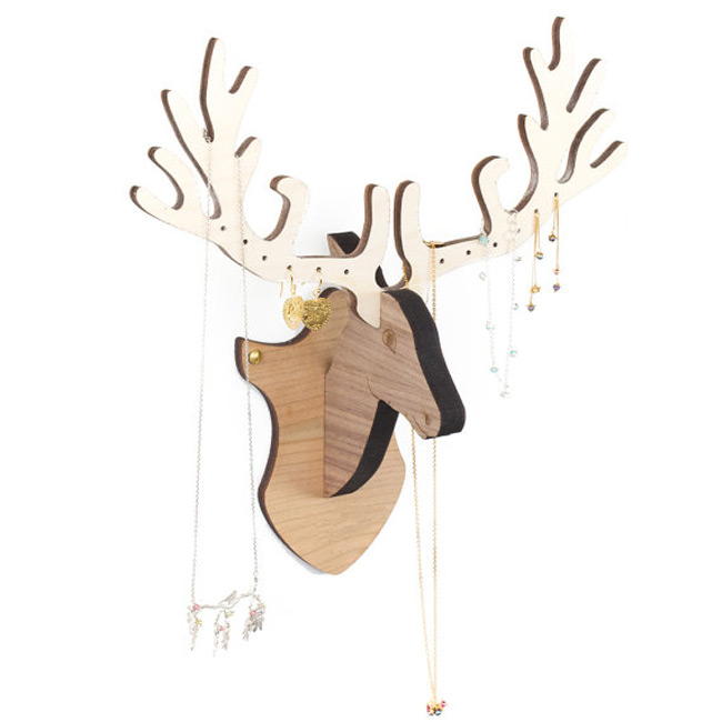 Creative Antelope Shaped Wall Mounted Jewelry Holder