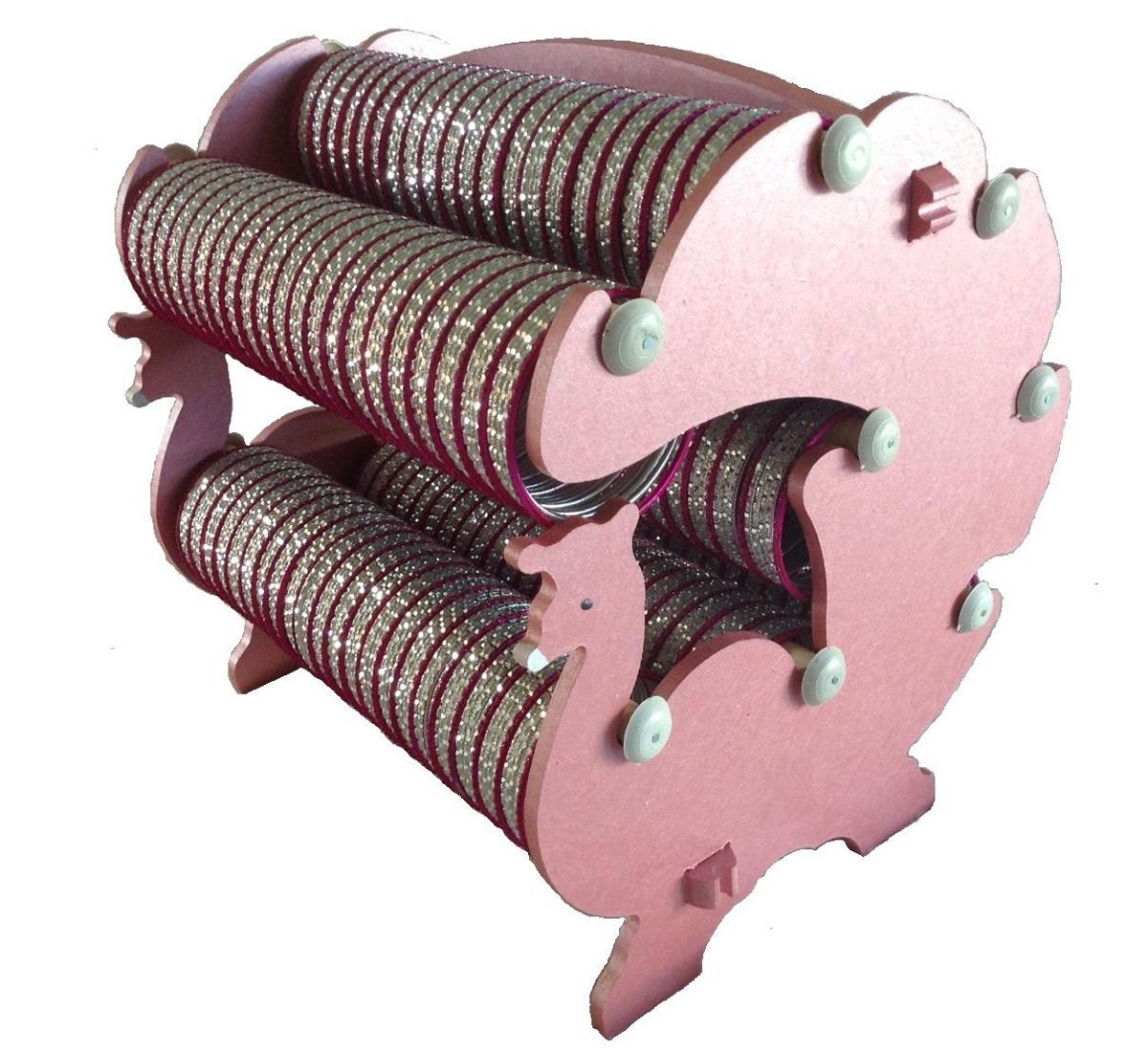Creative High Capacity Pink Bangle Holder