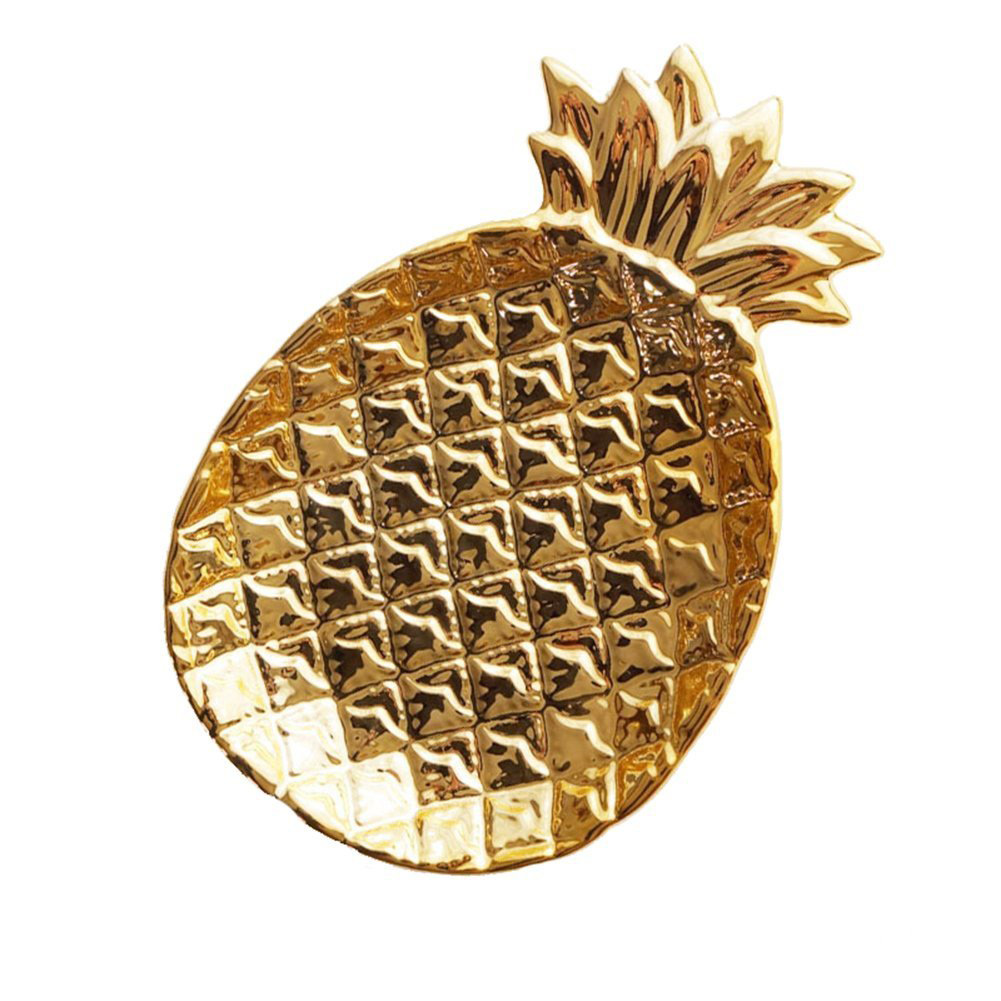 Pineapple Shaped Gold Jewelry Holder