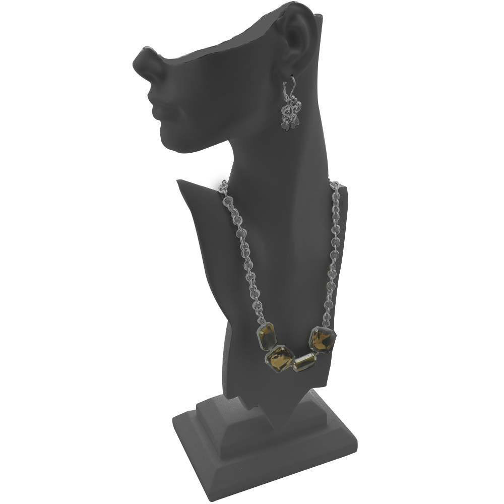 Abstract Black Mannequin Head & Bust Jewelry Holder