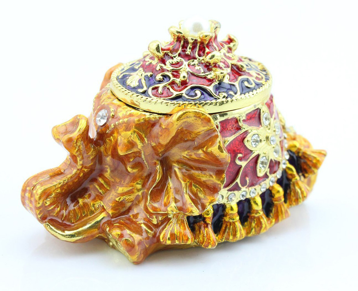 Golden Elephant Ring Holder Box Combo