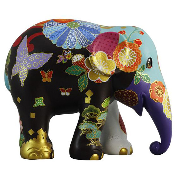 Colorful Floral Pattern Elephant Ring Holder