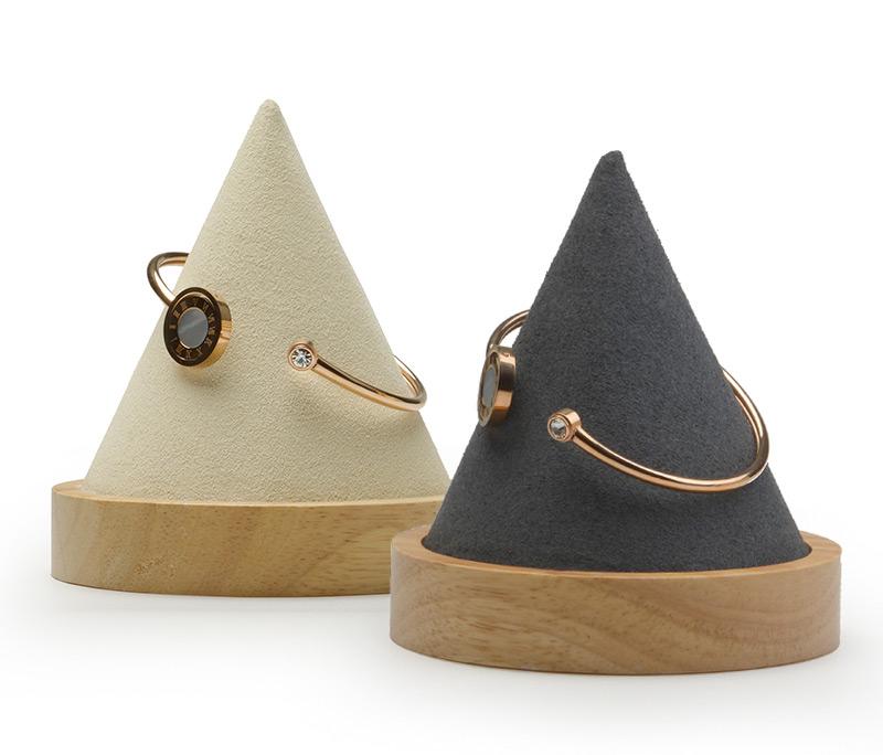Elegant Wooden Cones Textured Bangle Holders