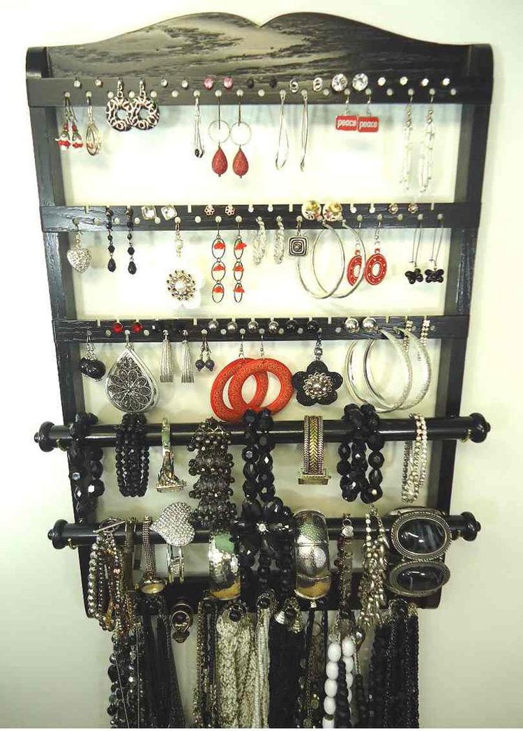 Beautiful Wooden Jewelry Organizer & Bangle Holder