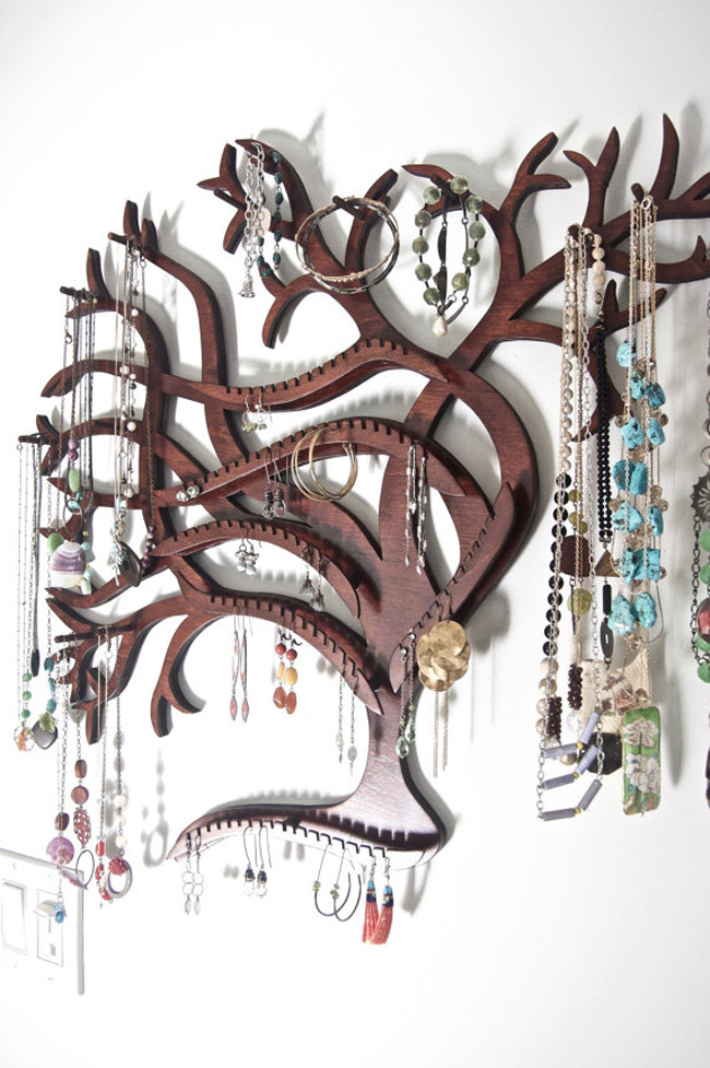 Creative Tree Shaped Wall Mounted Jewelry Holder