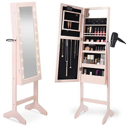 Merveilleux ... Floor Standing Locking Mirror Jewelry Armoire. Free Shipping Free  Shipping