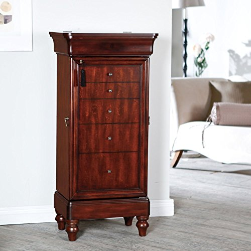 Locking Wall Standing Jewelry Armoire On