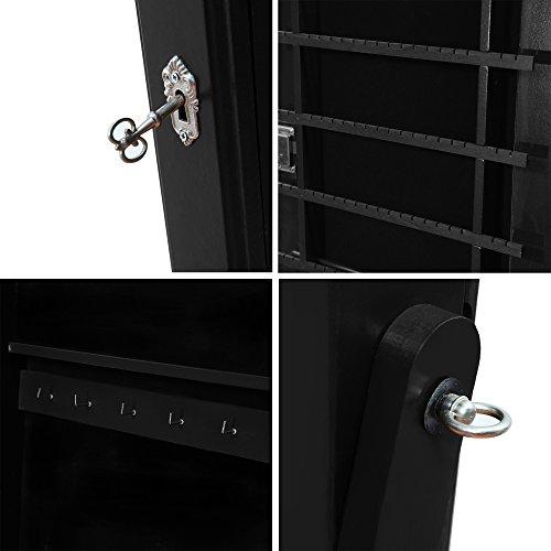 elegant black frame locking free standing full length mirror jewelry armoire zen merchandiser. Black Bedroom Furniture Sets. Home Design Ideas