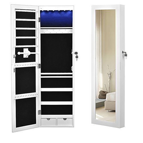 Superieur ... Door Mounted Jewelry Armoire Organizer With LED Lighted Mirror. Free  Shipping Free Shipping