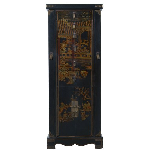 Exp Handmade Oriental Accent 51 Inch Antique Style Black
