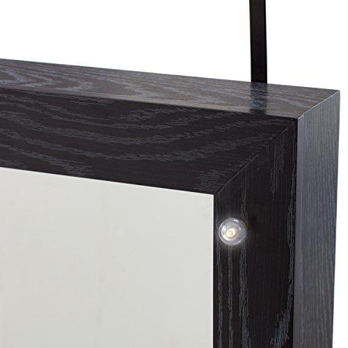 Weathered white black frame full length mirror over the for Full length mirror black frame