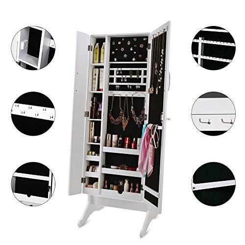 ... Floor Standing Mirror Jewelry Armoire U0026 Jewelry Organizer. ; 