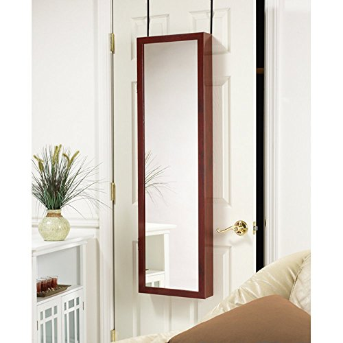 Astoria Over The Door Wall Mounted Full Length Mirror Jewelry Armoire