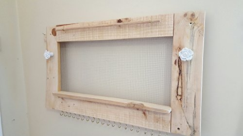 Multiple Color Natural Wood Wall Hanging Jewelry Holder & Organizer ...