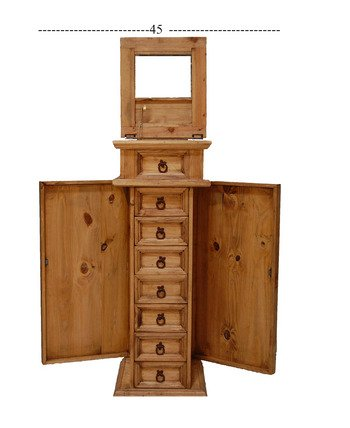 ... Tall Jewelry Armoire Cabinet With Side Door. ; 