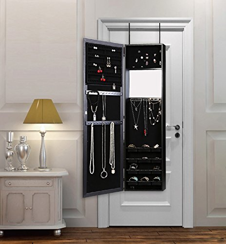 Jewelry Storage Cabinet Mirrored Armoire