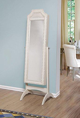 modern white wall standing cheval full length mirror jewelry armoire zen merchandiser. Black Bedroom Furniture Sets. Home Design Ideas