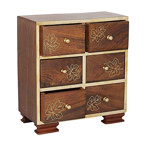 Small decorative drawers chest shape wall standing