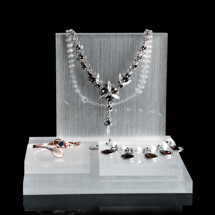 Beautiful Translucent Textured Acrylic Jewelry Display Set