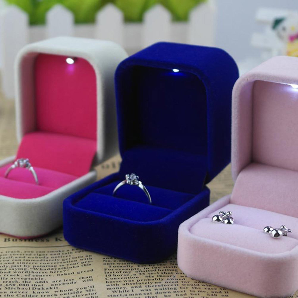 Cute Engagement Ring Holder Multicolored Boxes