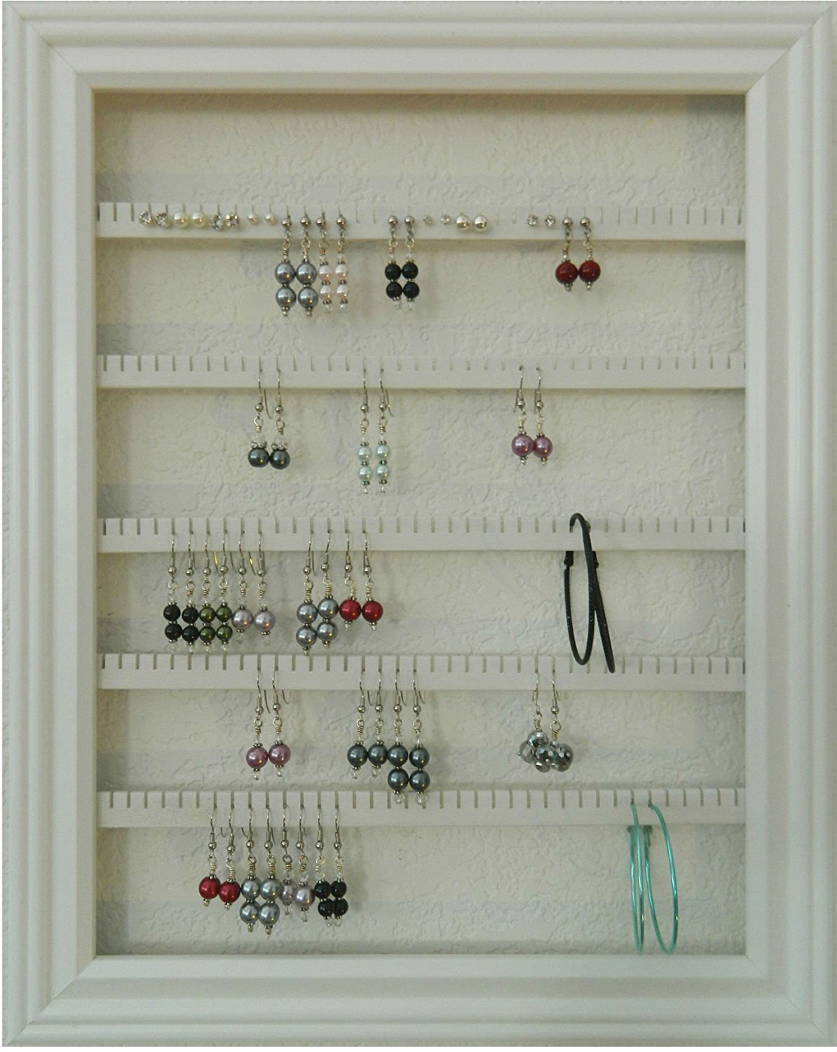Minimalist Picture Frame Style Wall Hanging Earring Holder
