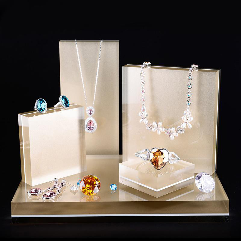 Elegant Translucent Acrylic Jewelry Display Set