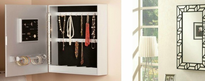 Beautiful Wall Mounted Jewelry Armoires