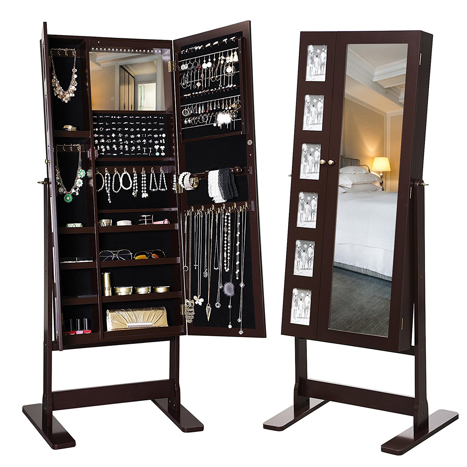 Standing Jewelry Armoire ~ The best standing mirror jewelry armoires zen