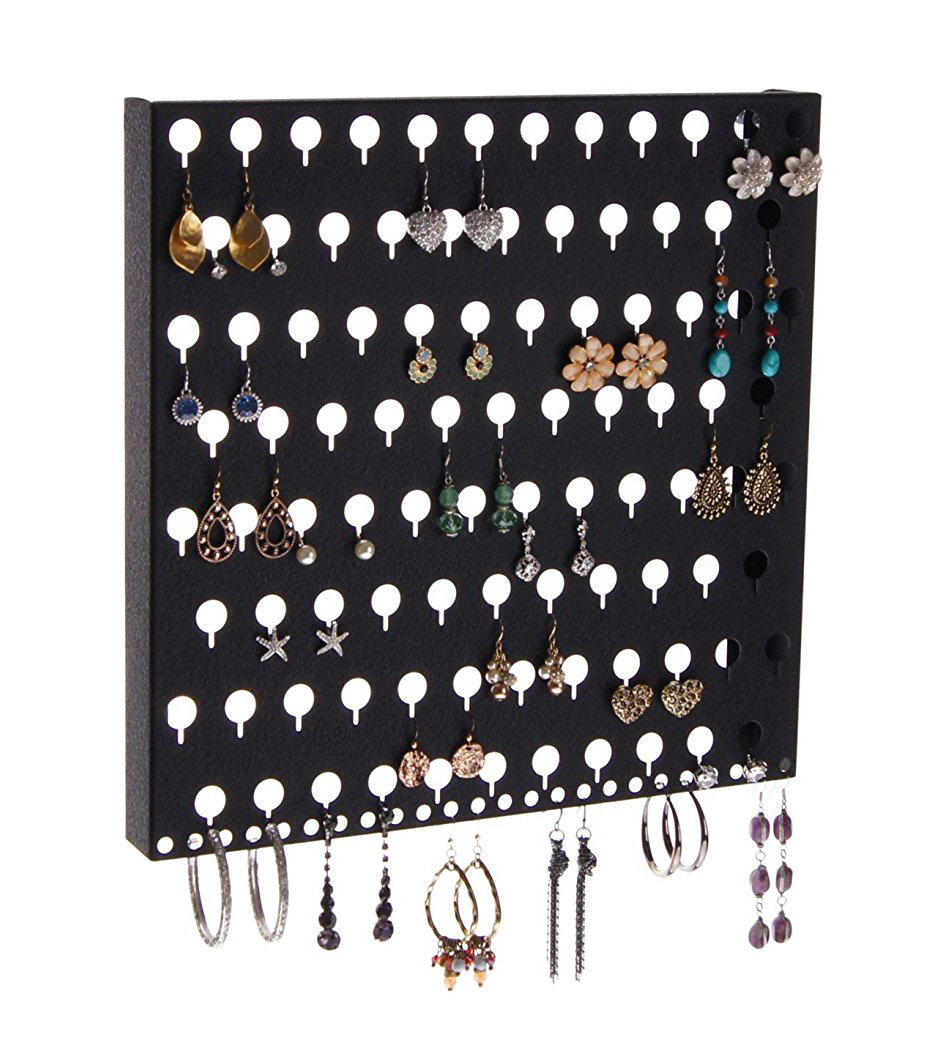 Minimalist Black High Capacity Wall Hanging Earring Holder