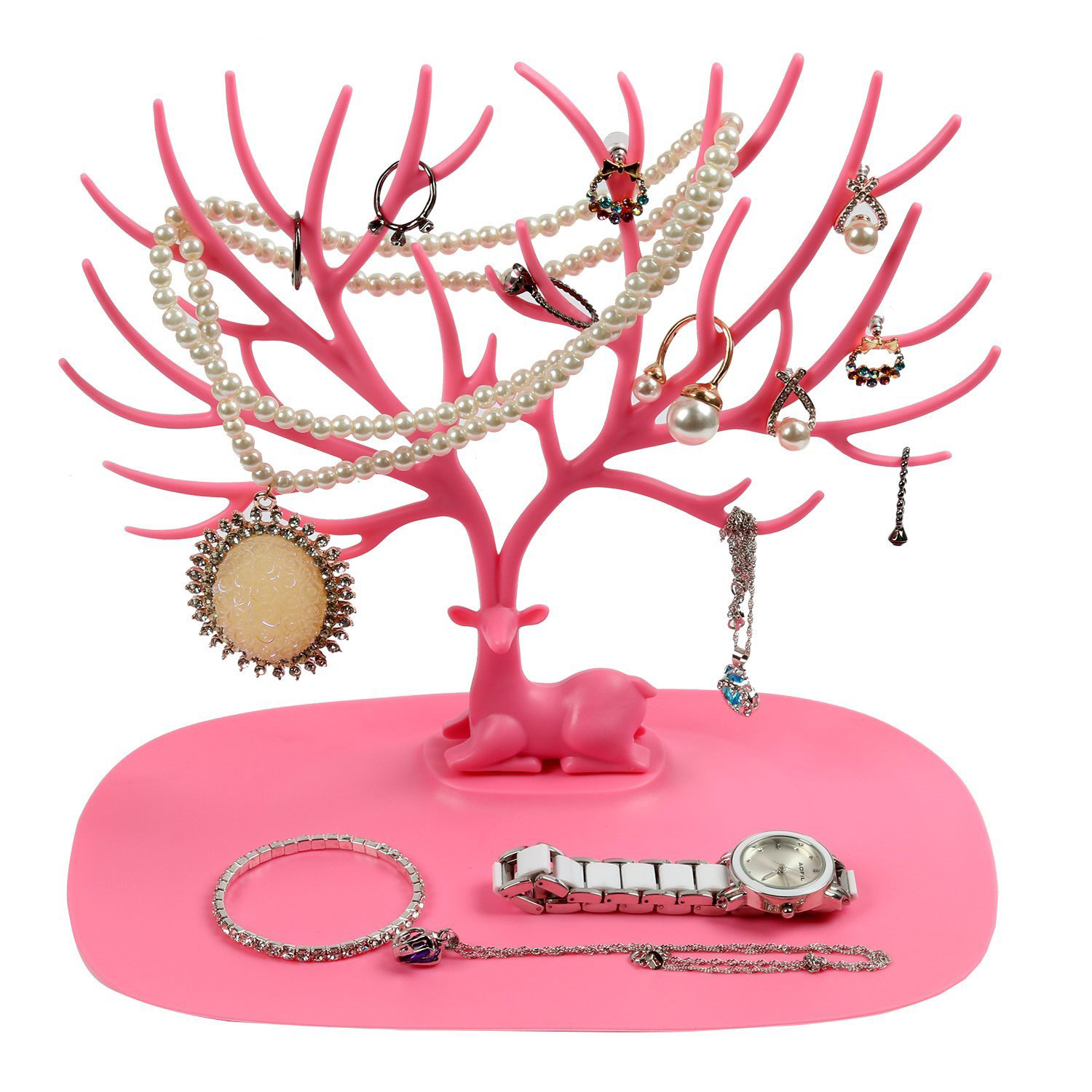 Pink Medium Jewelry Tree Holder