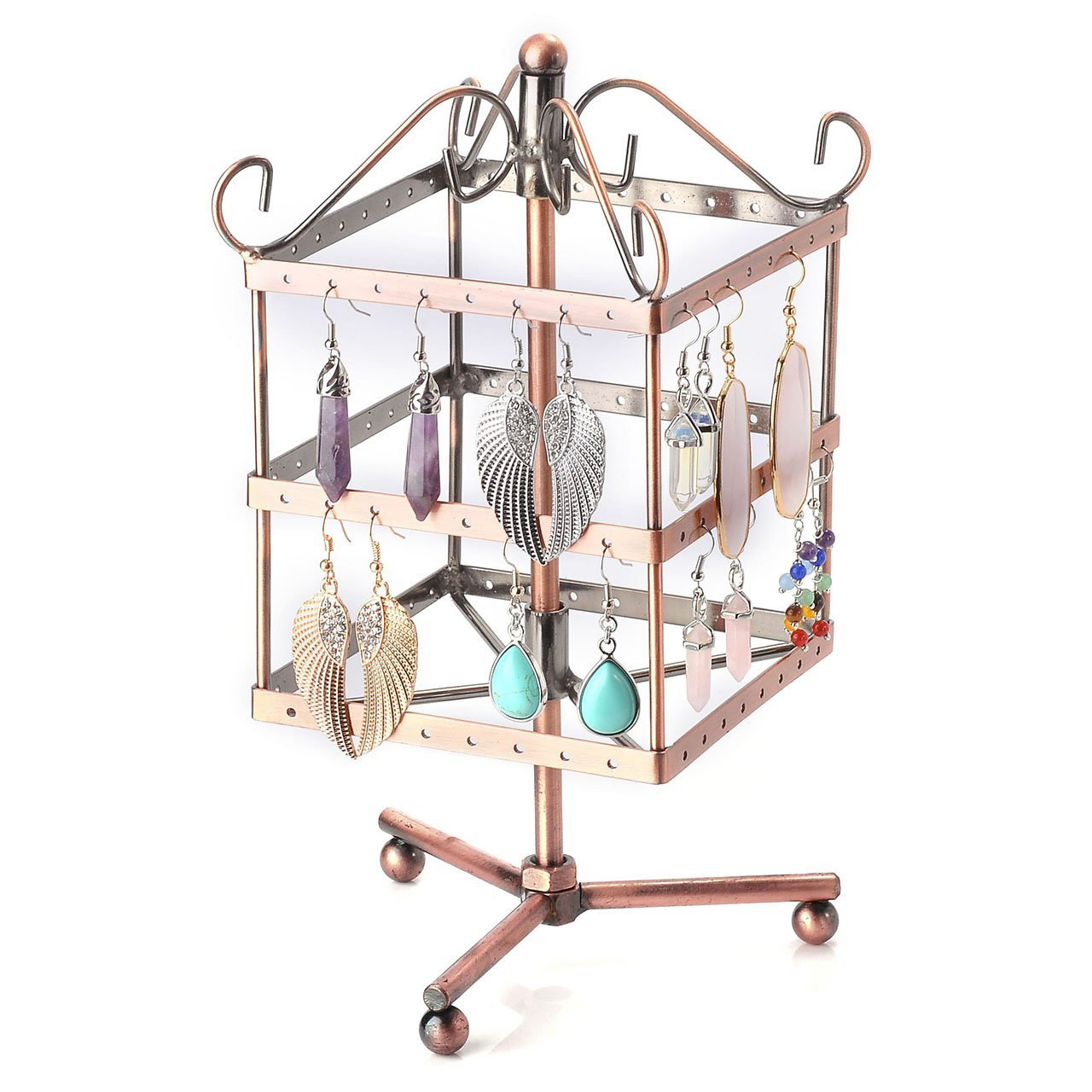 Beautiful Copper Rotating Earring Holder Stand