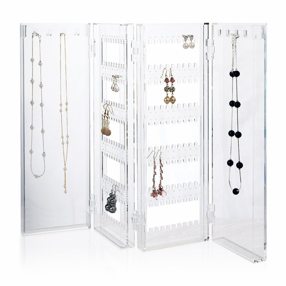 Countertop Acrylic Foldable Jewelry Holder Panel