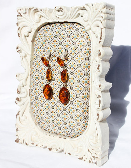 Cute Countertop Special Pattern Picture Frame Jewelry Holder