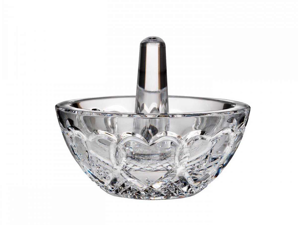 Crystal Silver Top Ring Holder