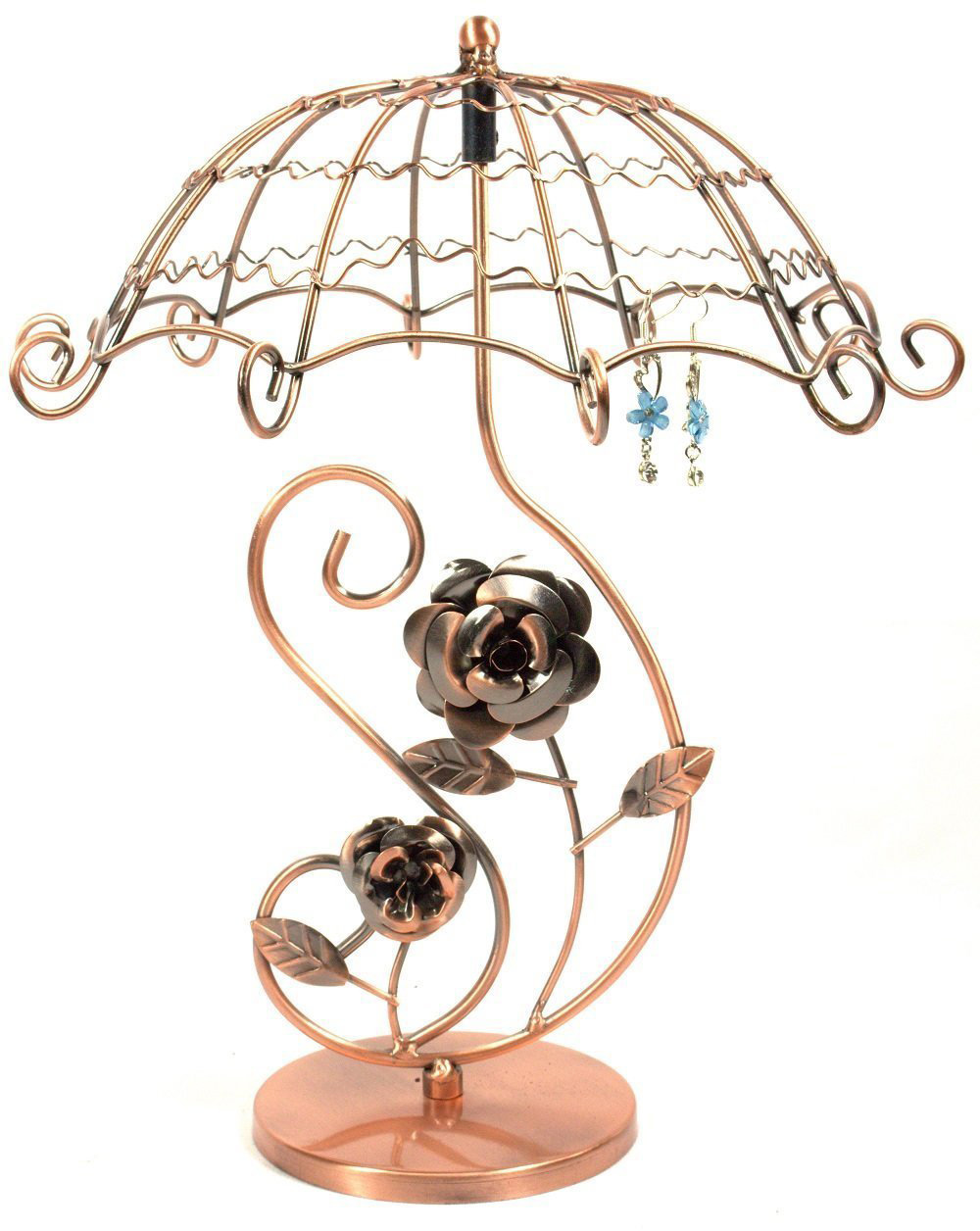 Creative Umbrella Shaped Copper Earring Holder