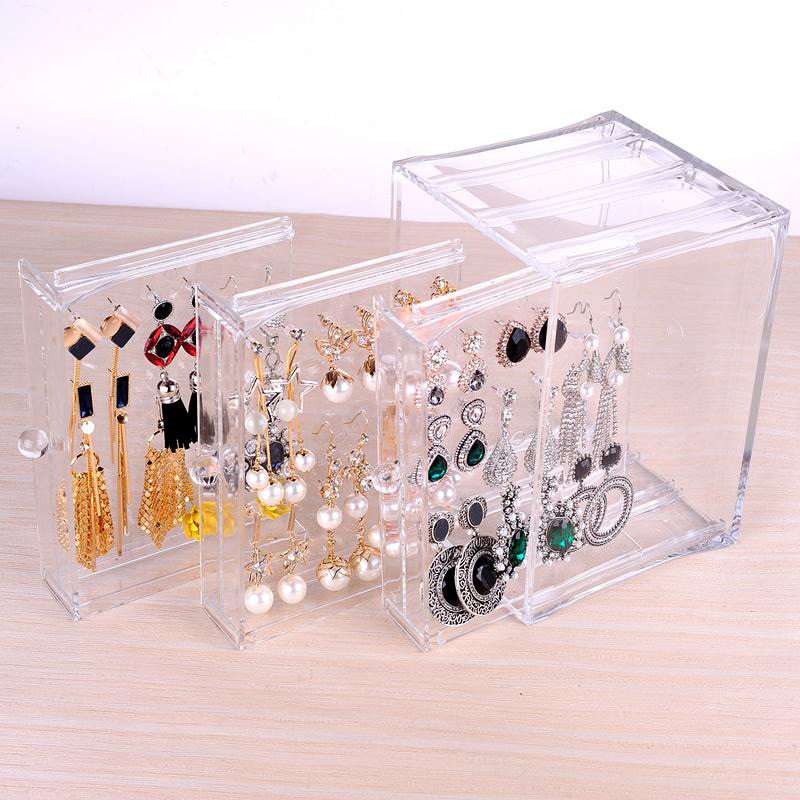 Multi-layered Transparent Acrylic Jewelry Holder Case