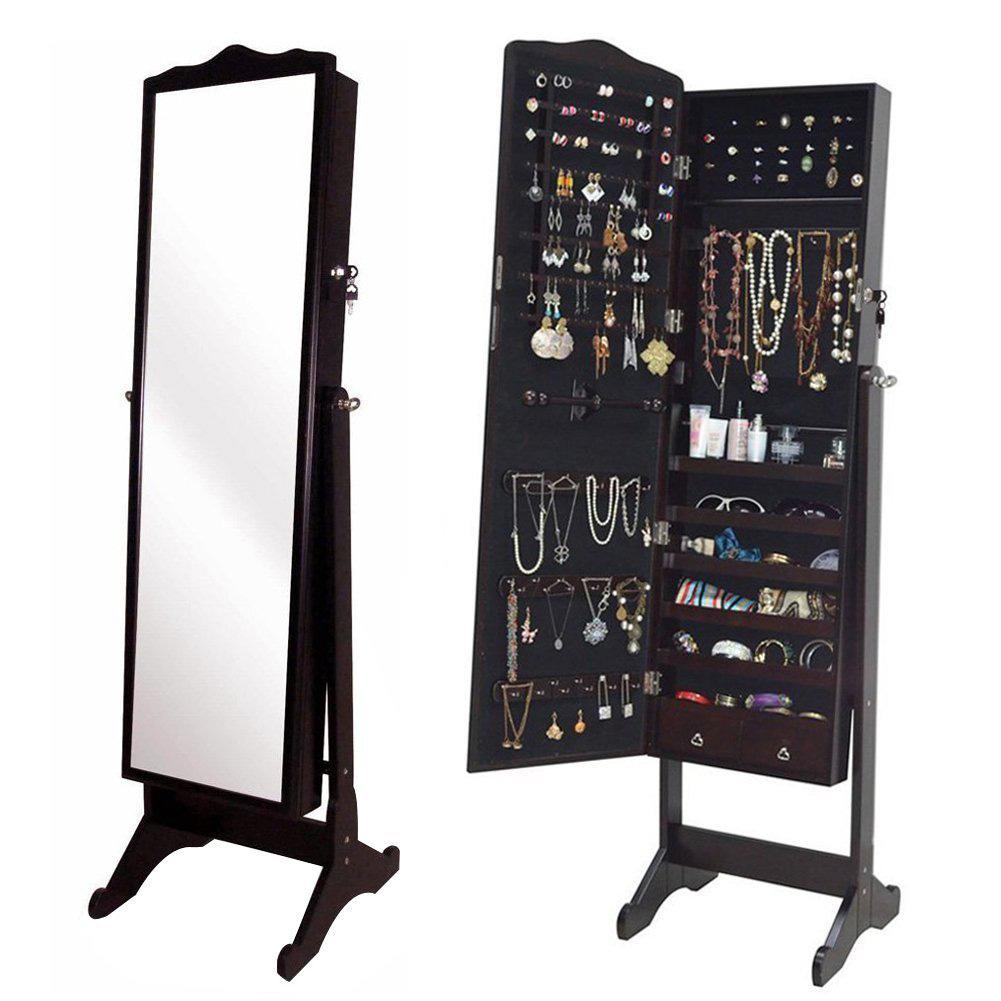 25 Beautiful Full Length Jewelry Armoires | Zen Merchandiser