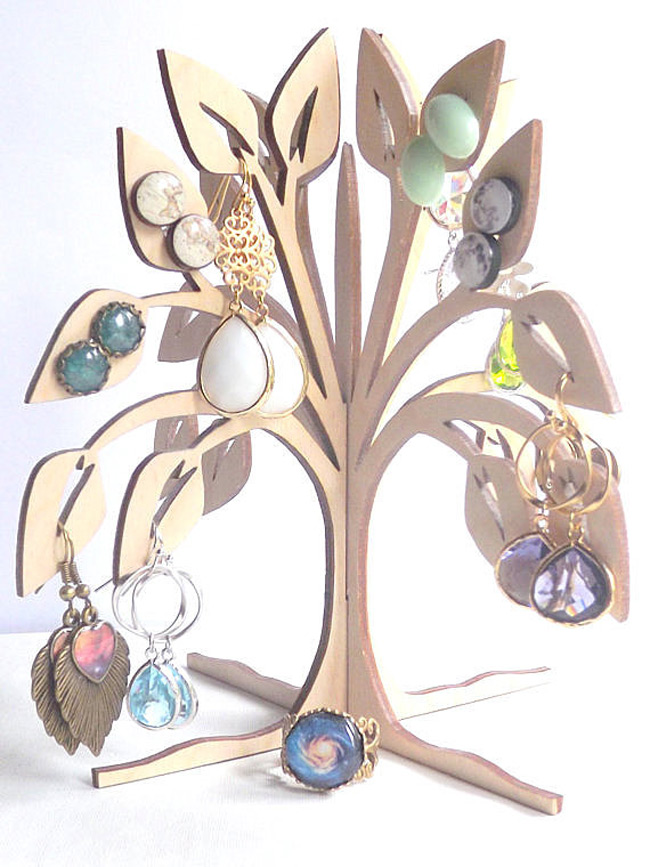 Creative 4 Sided Earring Tree Holder