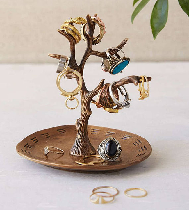 Medium Jewelry Tree Holder with Large Tray