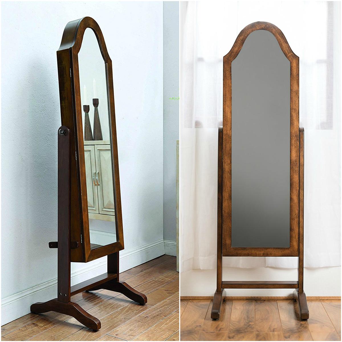25 Beautiful Mirrored Jewelry Armoires | Zen Merchandiser