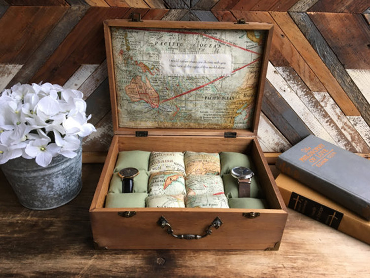 Creative Geography Themed Watch Holder Case