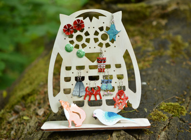 Creative Owl Shaped Earring Holder Stand