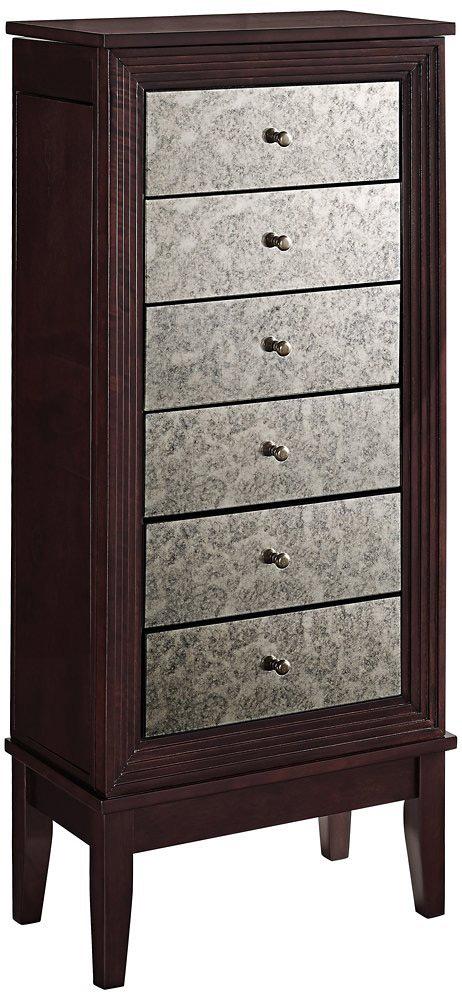 Elegant Antique Design Medium Floor Standing Jewelry Armoire