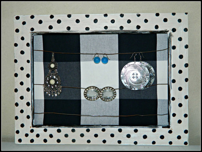 Cute Indie Picture Frame Jewelry Holder